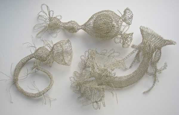 Knitted Plankton by Anita Bruce