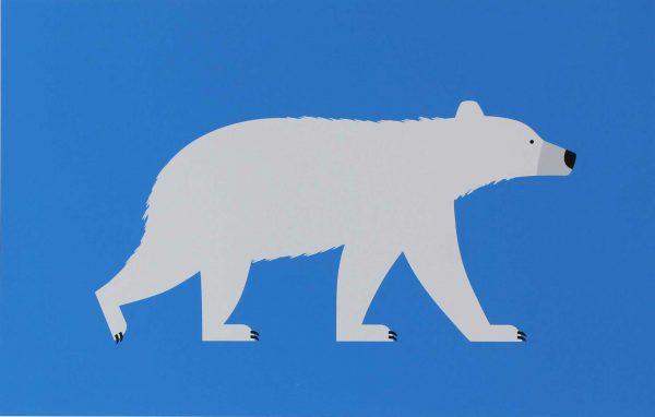 Giclee print titled 'Polar Bear' by Hannah Alice