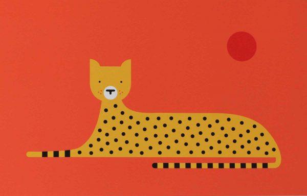 Giclee print titled 'Cheetah' by Hannah Alice