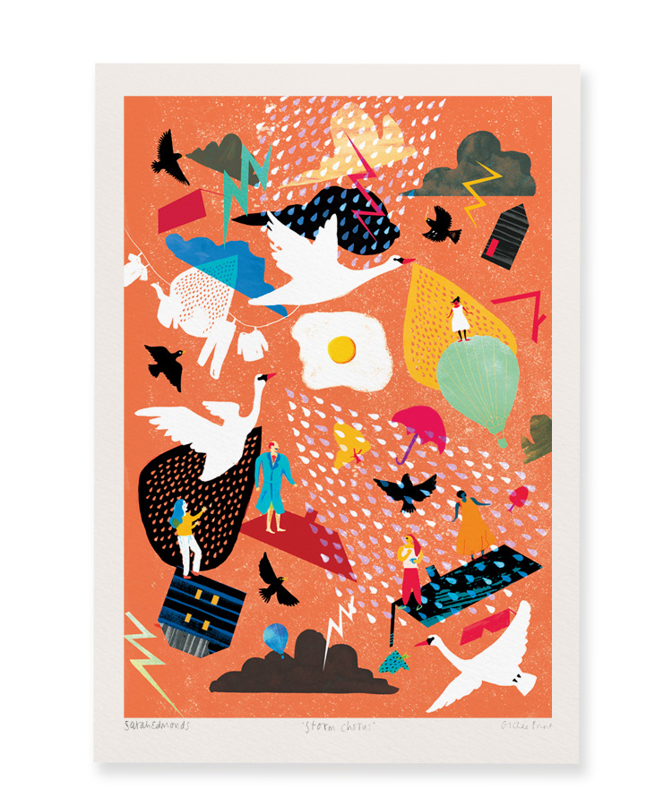 Digital Print titled 'Storm Chorus' by Sarah Edmonds