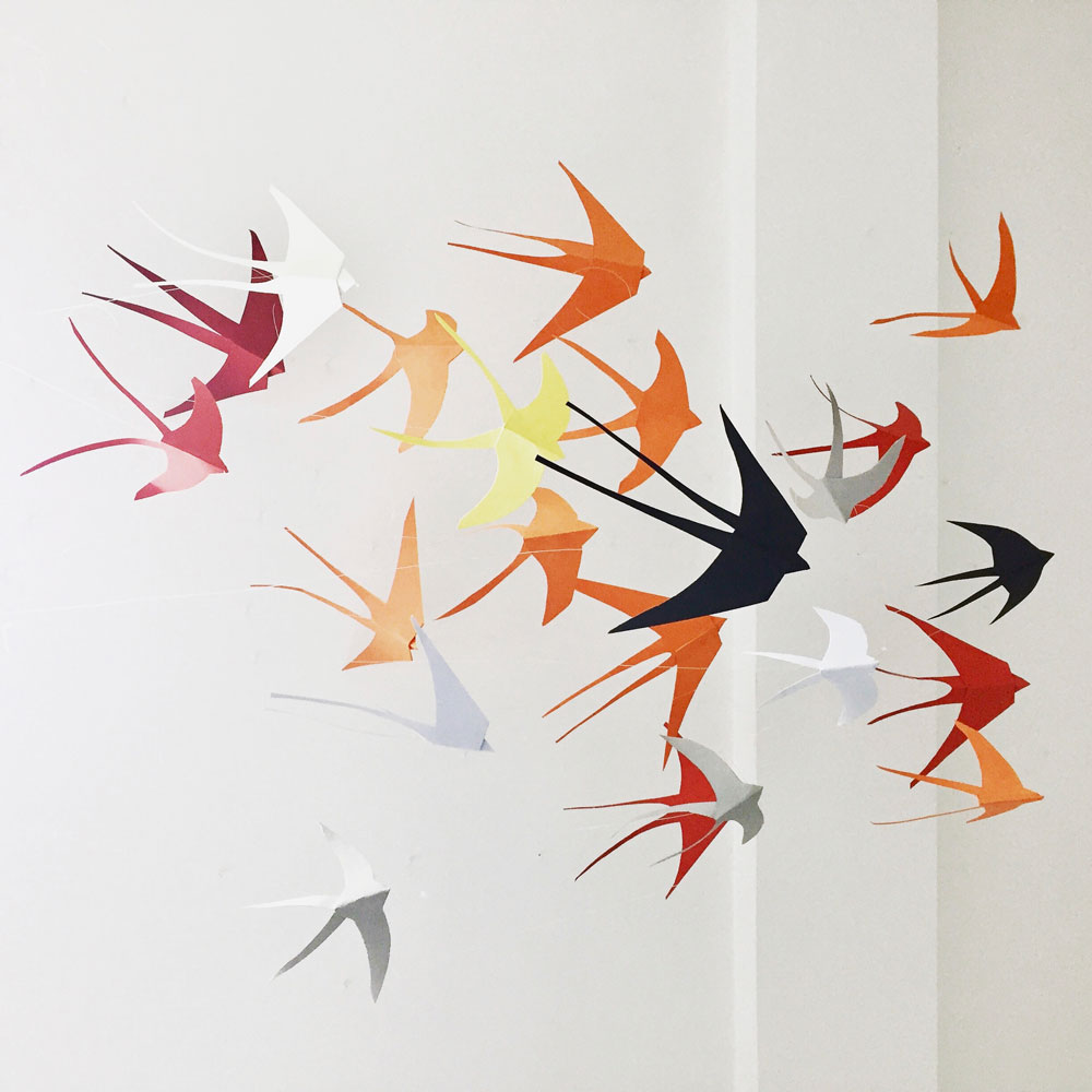 Solange Leon - paper bird sculpture