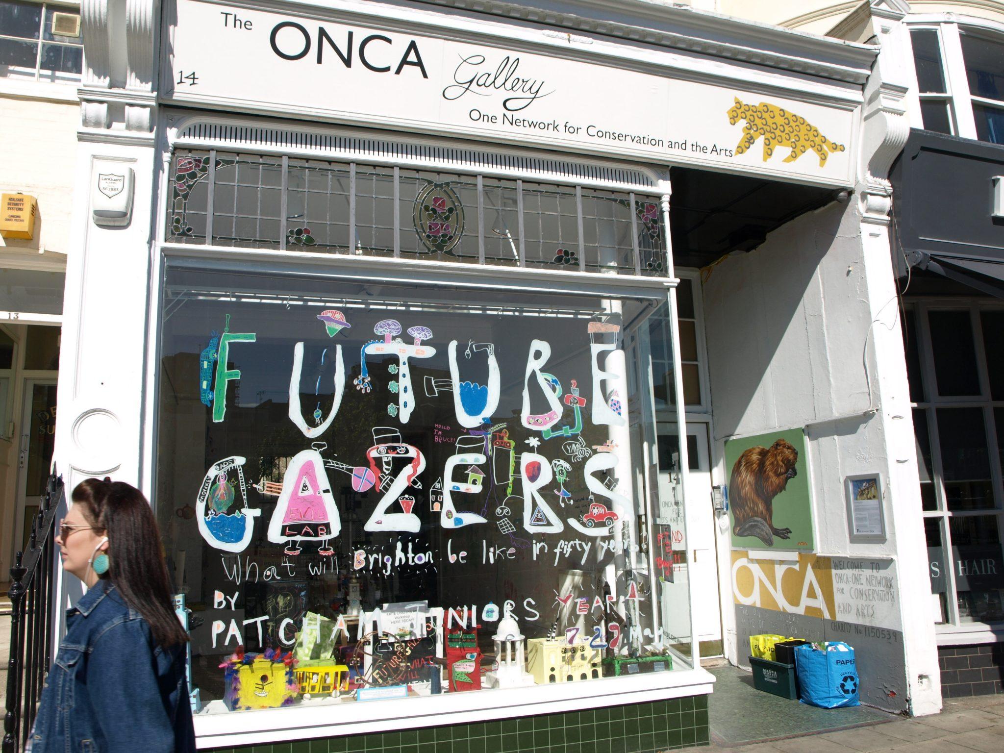 FutureGazers window at ONCA