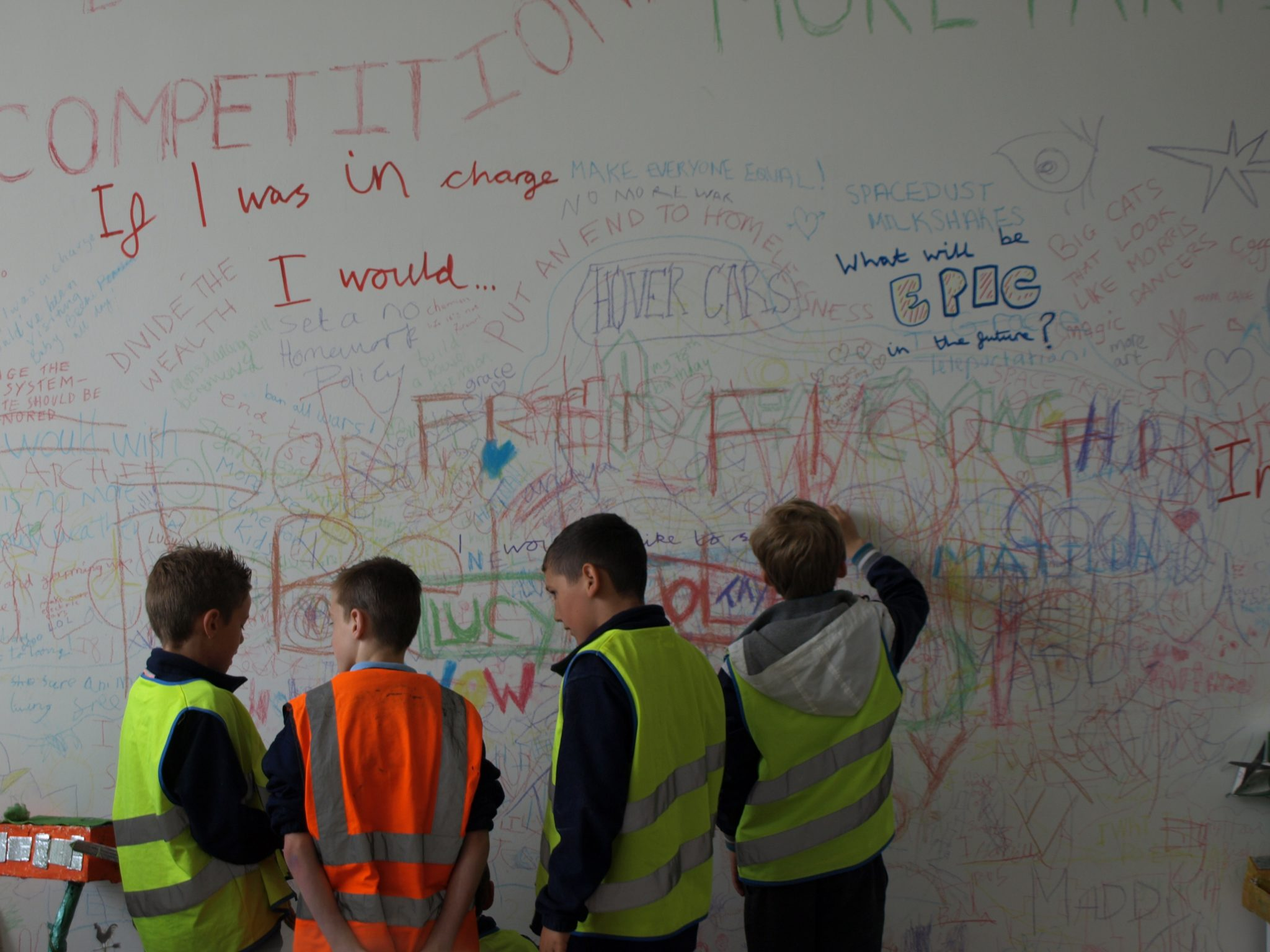 FutureGazers chalk wall of ideas