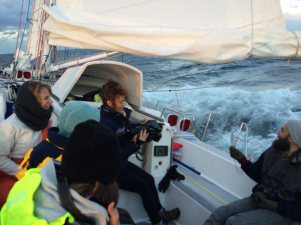 Filming Stormy Seas