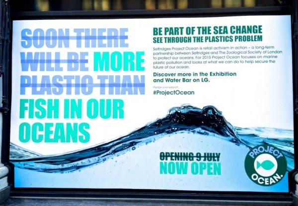 Plastic Water Sign