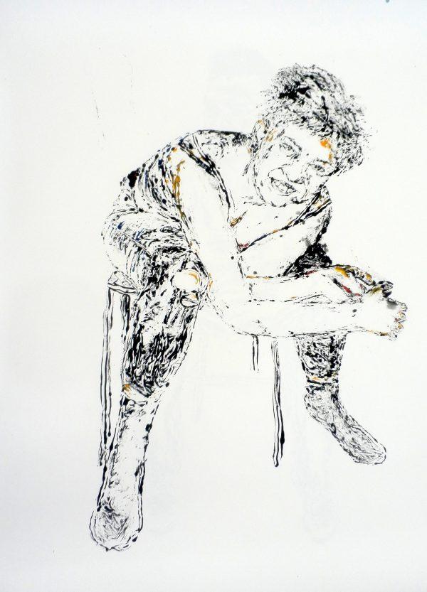 Monoprint by Nina Reymond