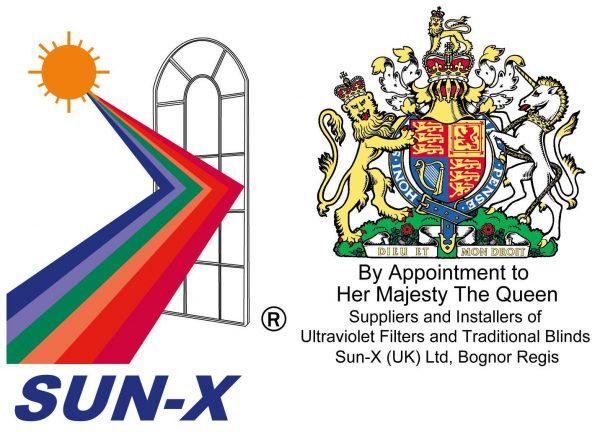 Sun-X logo & Royal crest