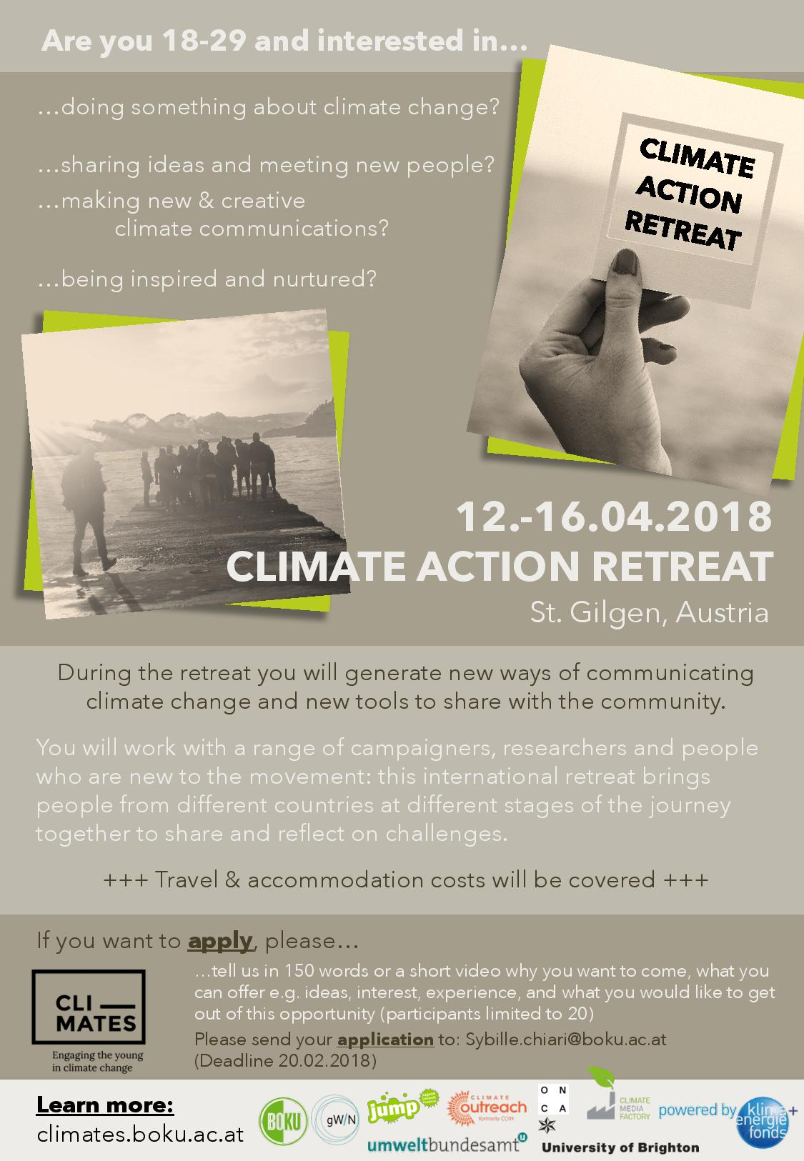 young climate leaders' retreat info