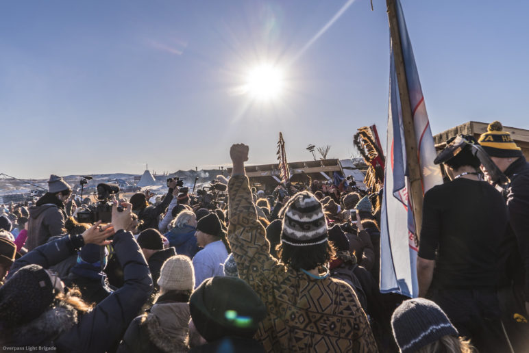photo of protestors at Standing Rock by Joe Brusky