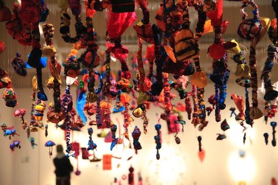 photo of textile installation