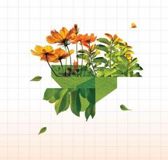 digitised image of flowers