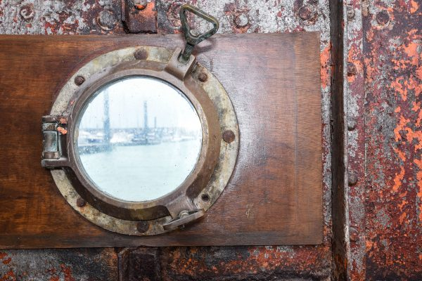 port hole on the Barge