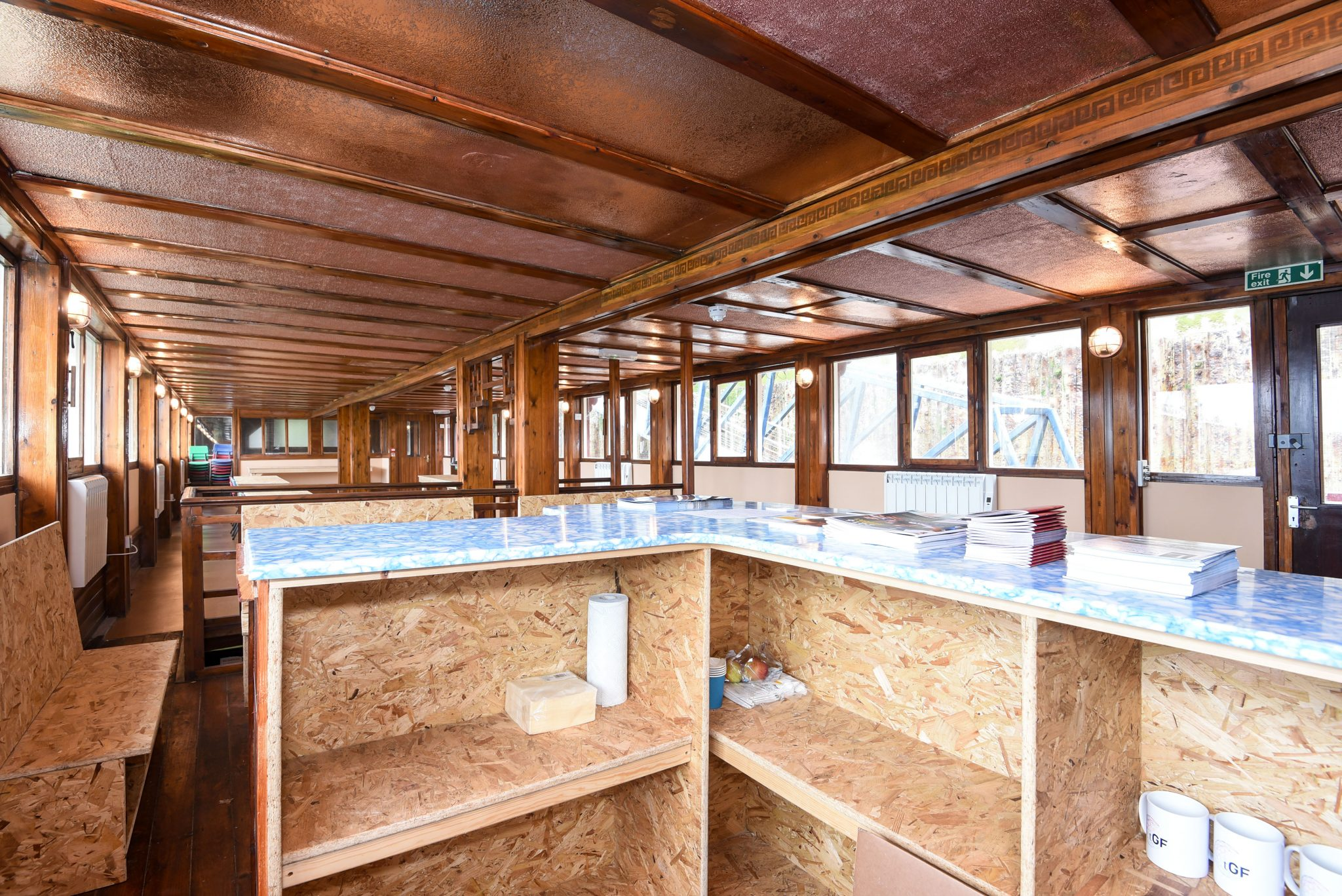 view of barge interior