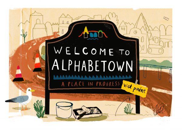 Sarah Edmonds Alphabetown Welcome Sign