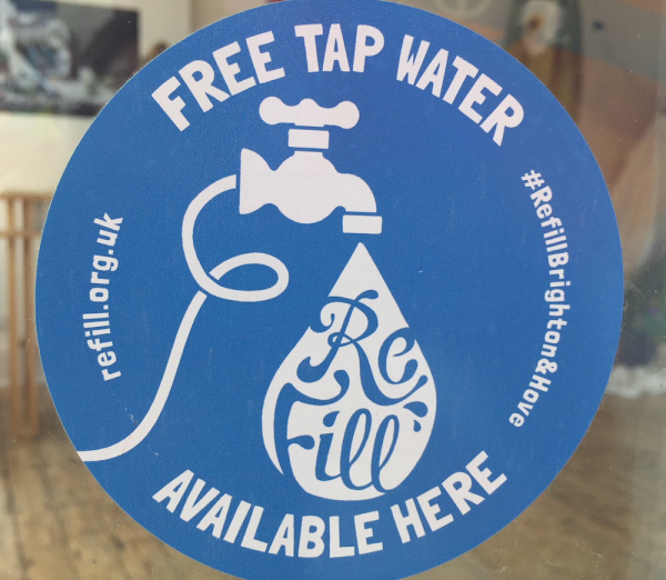 Image of ONCA's Refill station window sticker