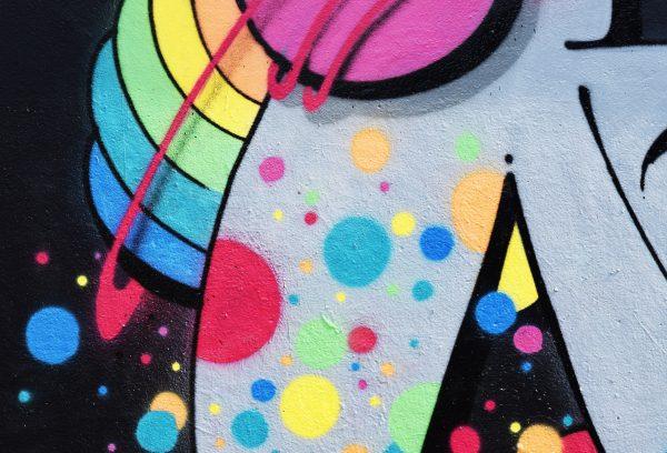 colourful swirls of graffitti