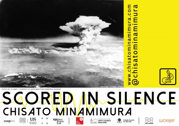 Flyer for Scored In Silence Flyer by Chisato Minamimura