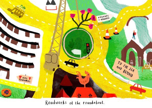 Sarah Edmonds Roundabout Illustration