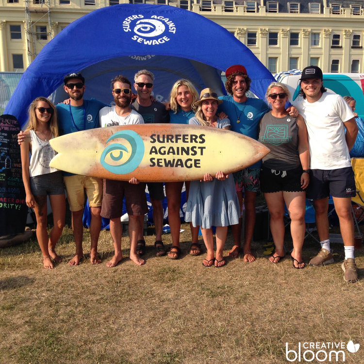 Beach clean, Creative Bloom & Surfers Against Sewage