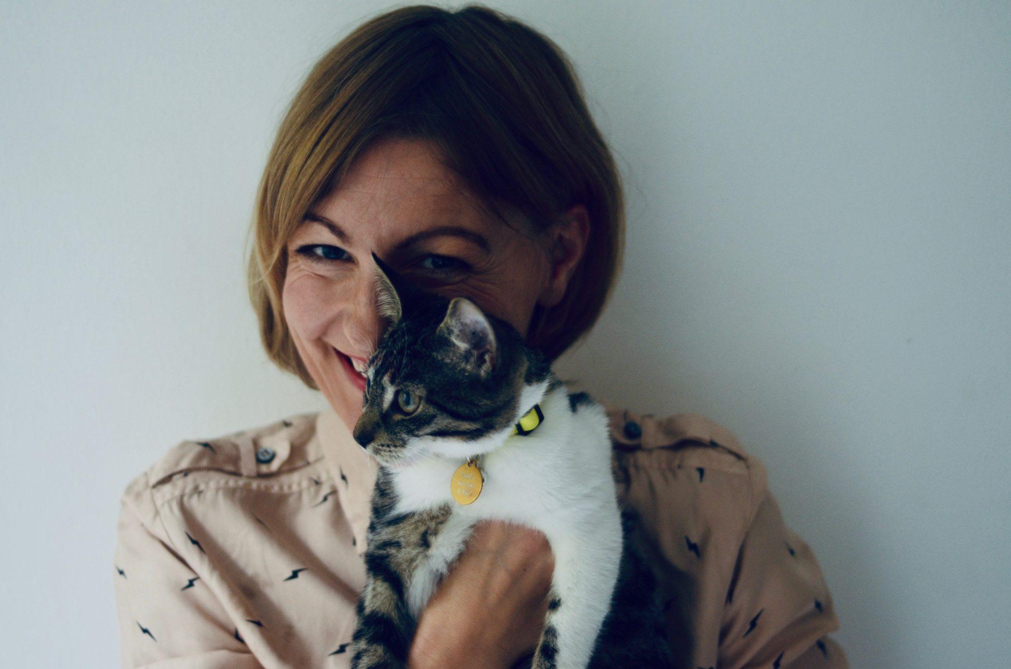 Linsey Fryatt and her cat Betty