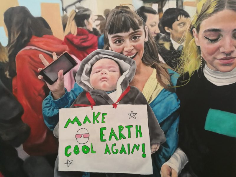 Portrait of young climate activists by Milly Bampini