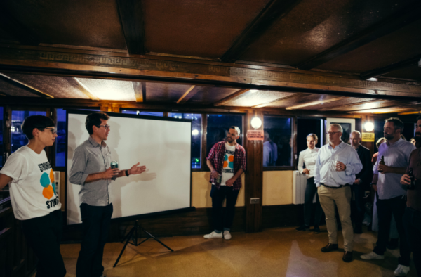 Stronger Stories launch on the Barge