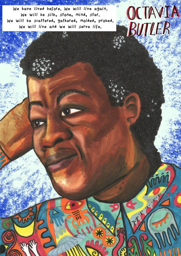 colourful portrait by Jacob V Joyce