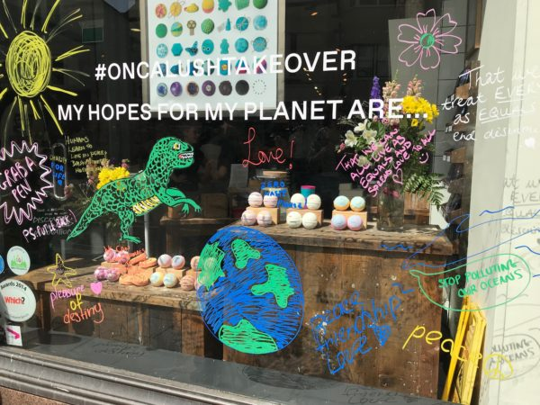 ONCA window at LUSH